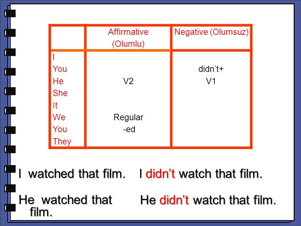 l didn't watch that film.