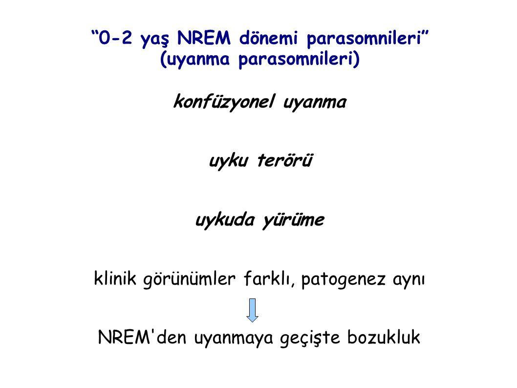 0-2 yaş NREM dönemi parasomnileri (uyanma parasomnileri)