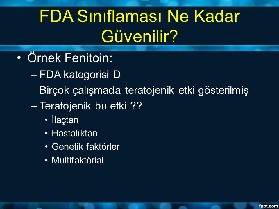 FDA Sınıflaması Ne Kadar Güvenilir
