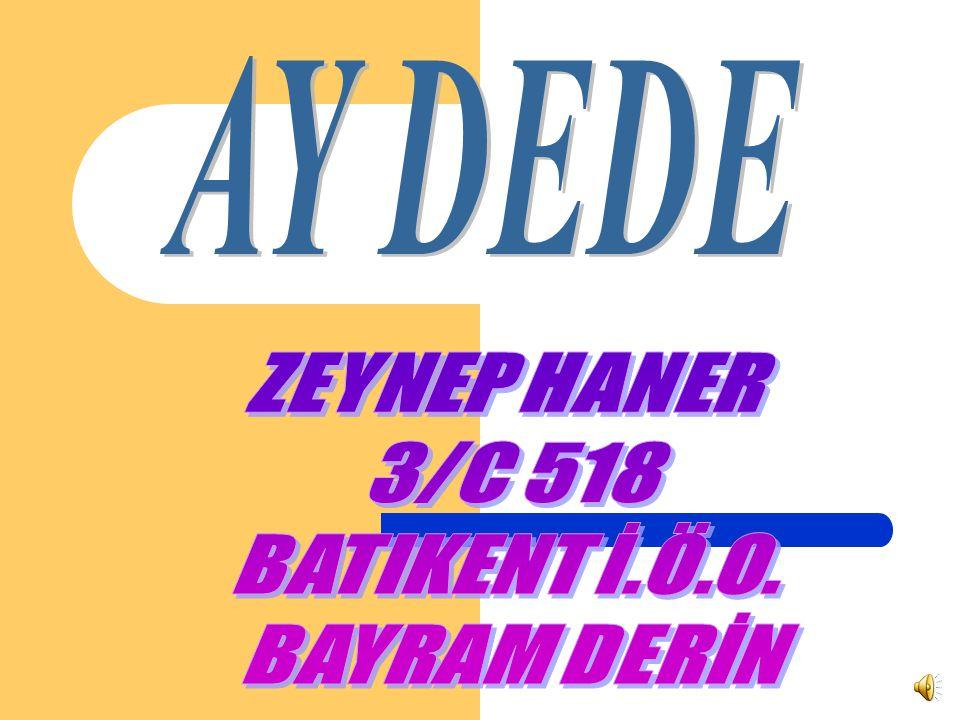 AY DEDE ZEYNEP HANER 3/C 518 BATIKENT İ.Ö.O. BAYRAM DERİN