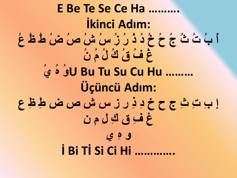 E Be Te Se Ce Ha ……….