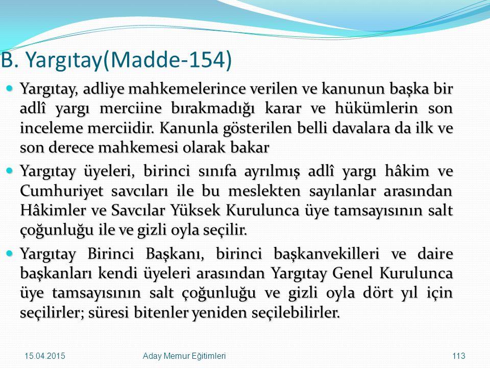 B. Yargıtay(Madde-154)