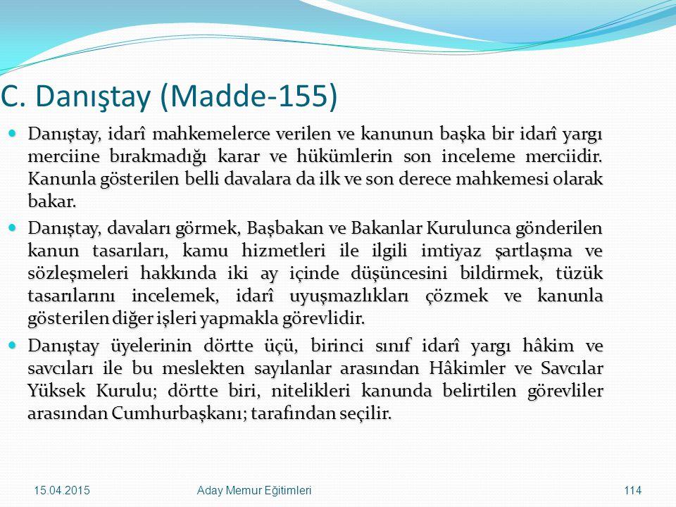 C. Danıştay (Madde-155)