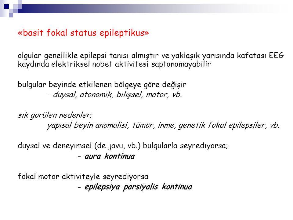 «basit fokal status epileptikus»