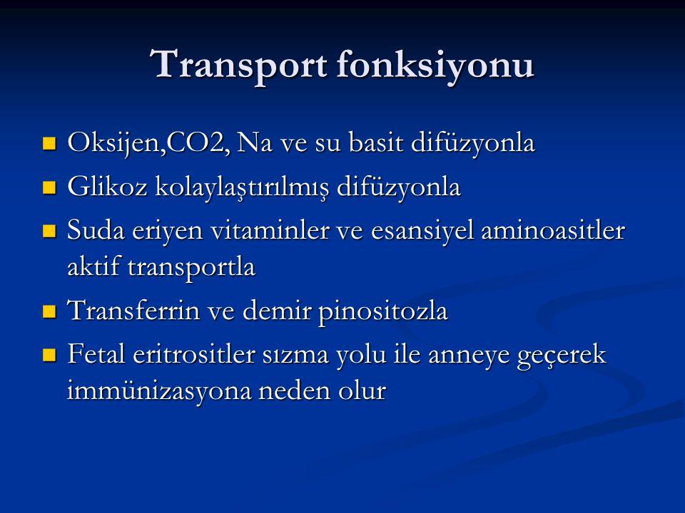 Transport fonksiyonu Oksijen,CO2, Na ve su basit difüzyonla