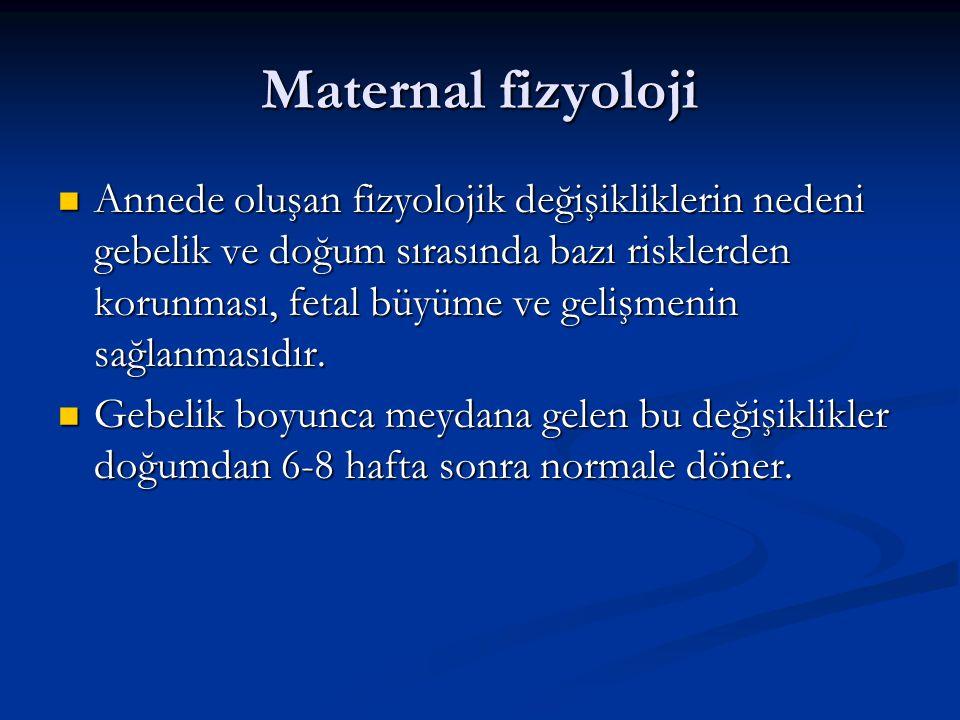 Maternal fizyoloji
