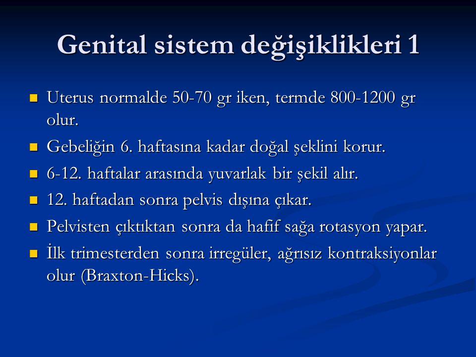 Genital sistem değişiklikleri 1