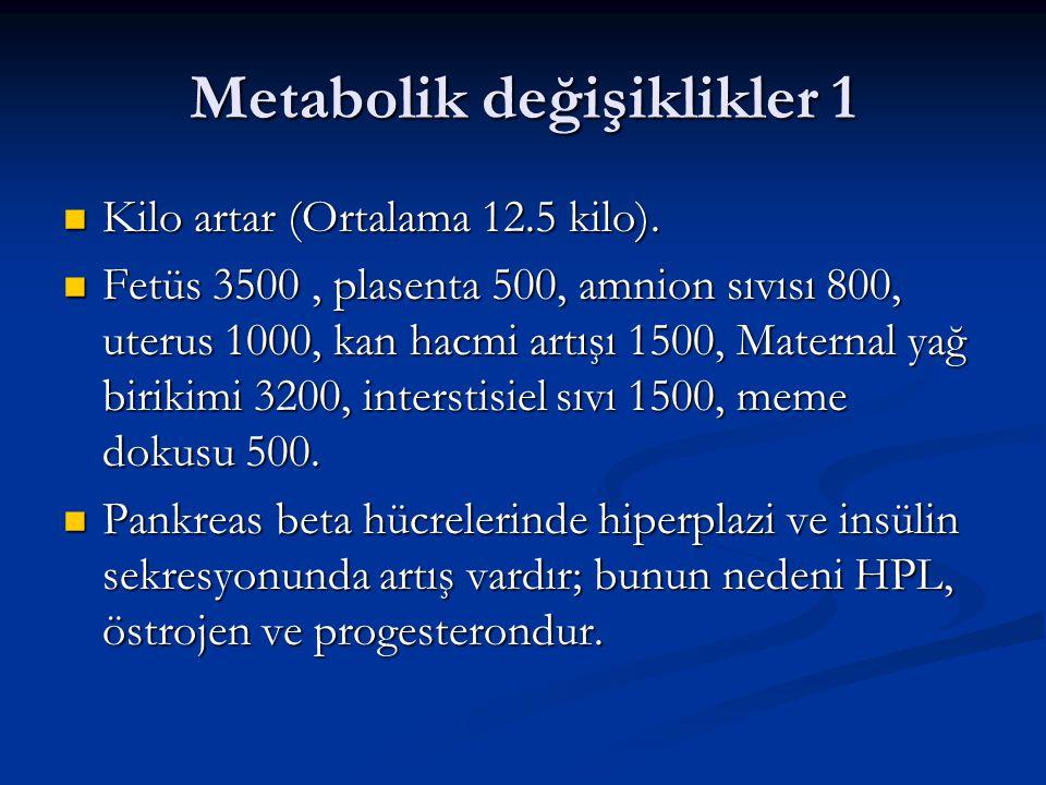Metabolik değişiklikler 1