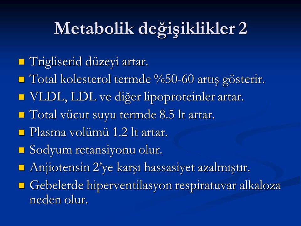 Metabolik değişiklikler 2