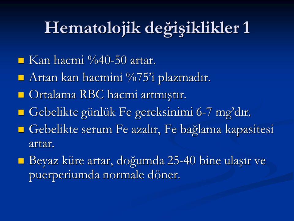 Hematolojik değişiklikler 1