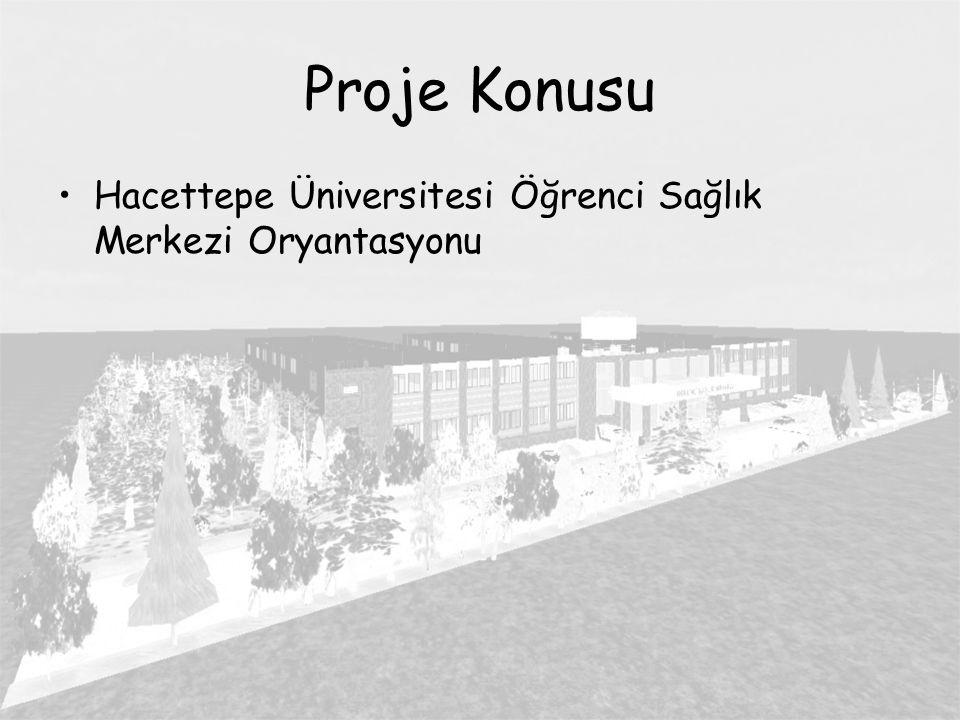 Proje Konusu Hacettepe Üniversitesi Öğrenci Sağlık Merkezi Oryantasyonu