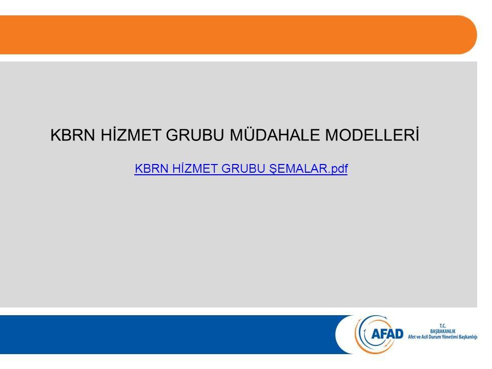 KBRN HİZMET GRUBU MÜDAHALE MODELLERİ