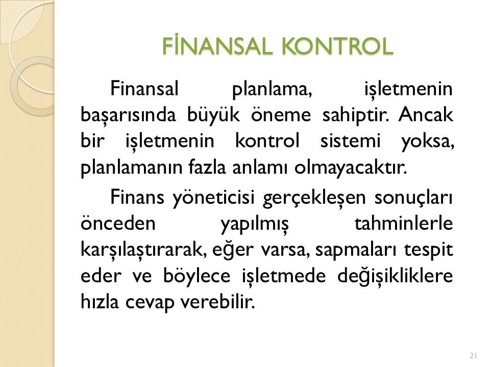 FİNANSAL KONTROL