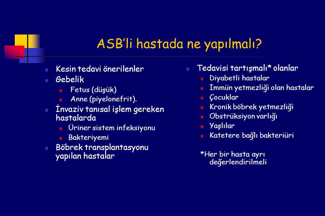 ASB'li hastada ne yapılmalı