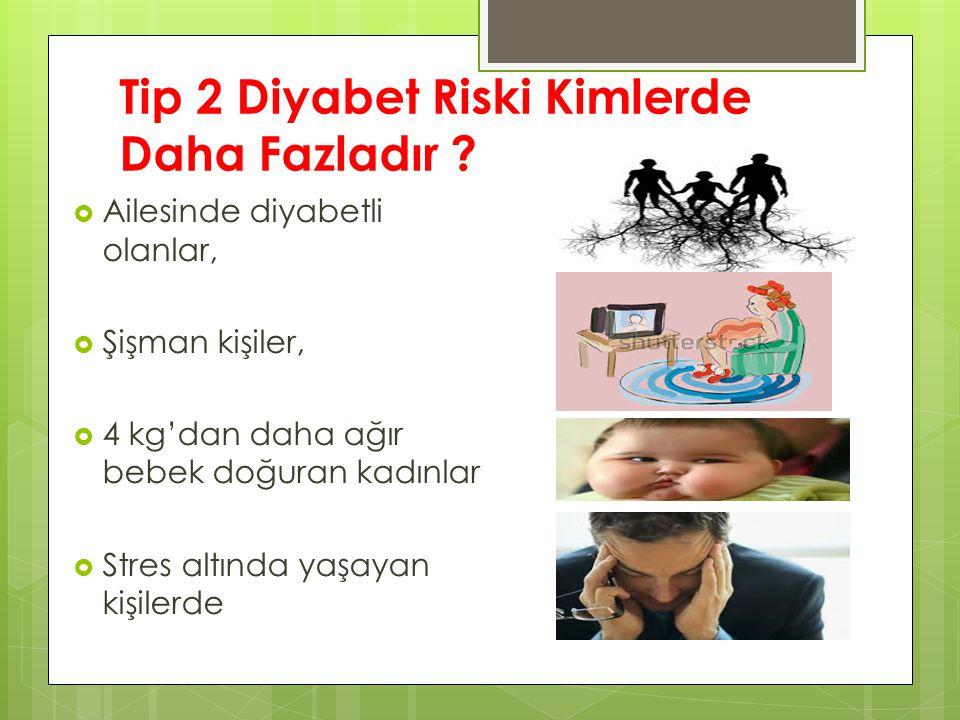 Tip 2 Diyabet Riski Kimlerde Daha Fazladır