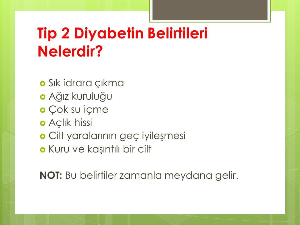 Tip 2 Diyabetin Belirtileri Nelerdir