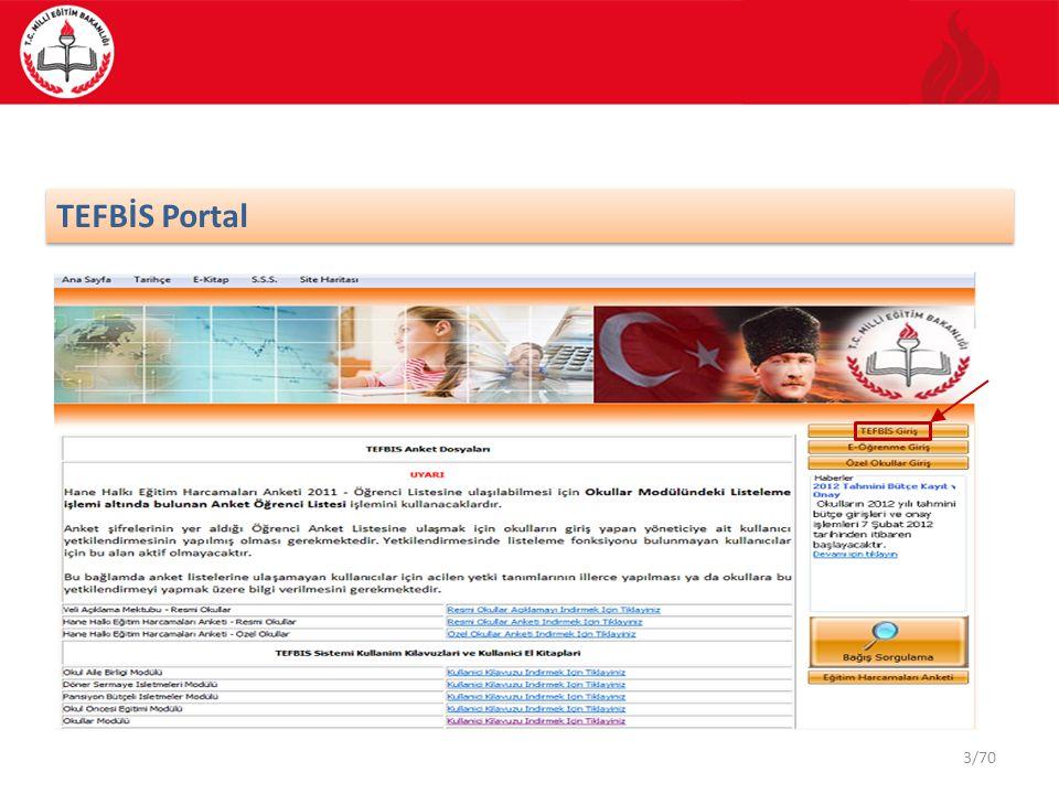 TEFBİS Portal