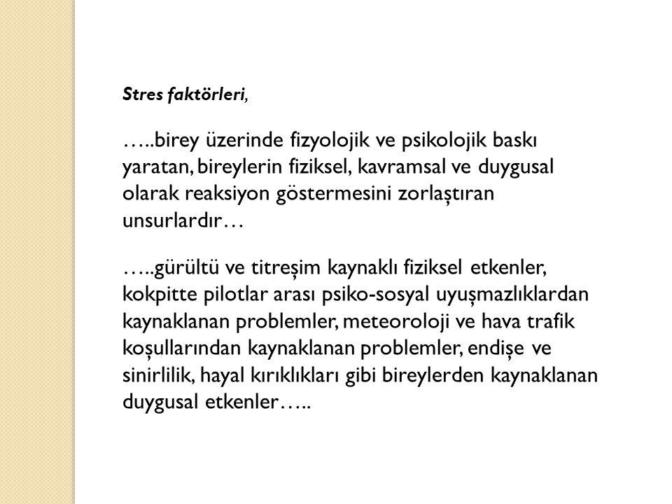 Stres faktörleri,