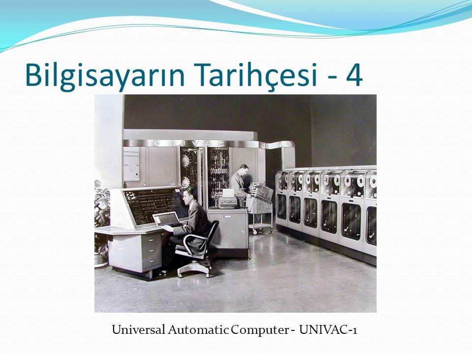 Bilgisayarın Tarihçesi - 4