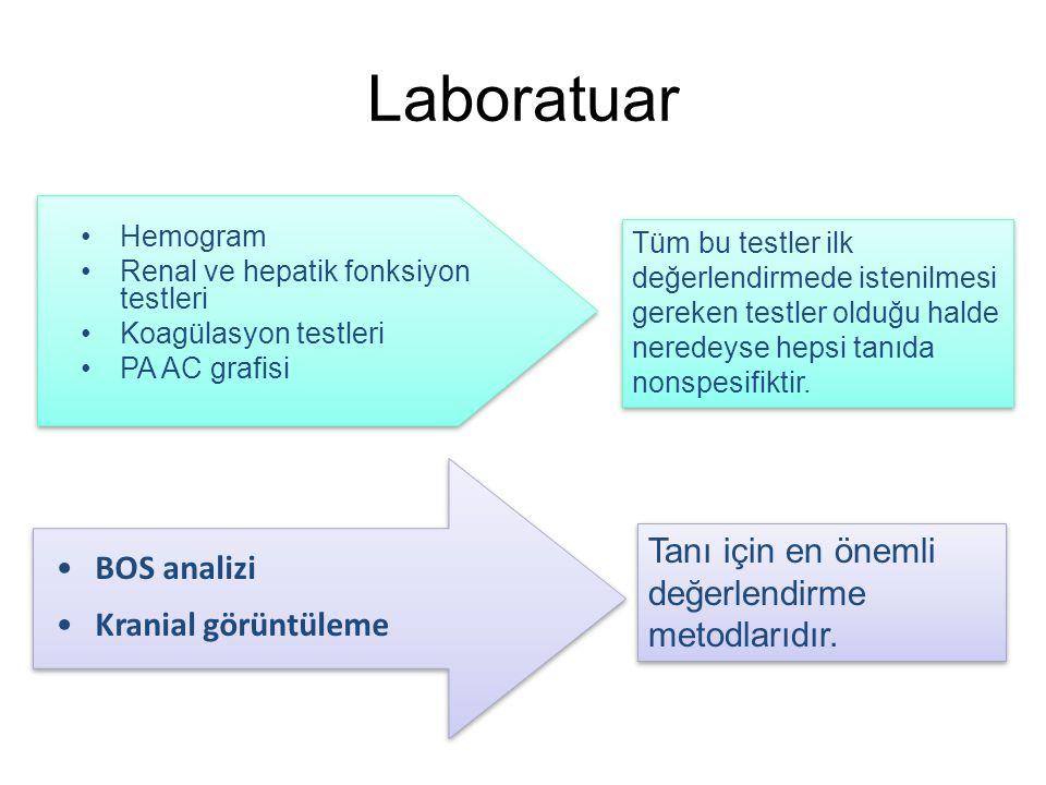 Laboratuar Tanı için en önemli değerlendirme metodlarıdır. BOS analizi