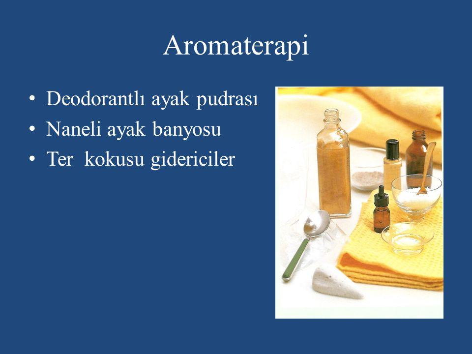 Aromaterapi Deodorantlı ayak pudrası Naneli ayak banyosu