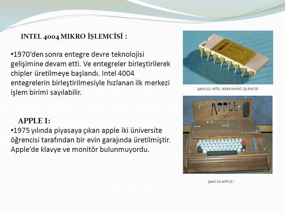 INTEL 4004 MIKRO İŞLEMCİSİ :