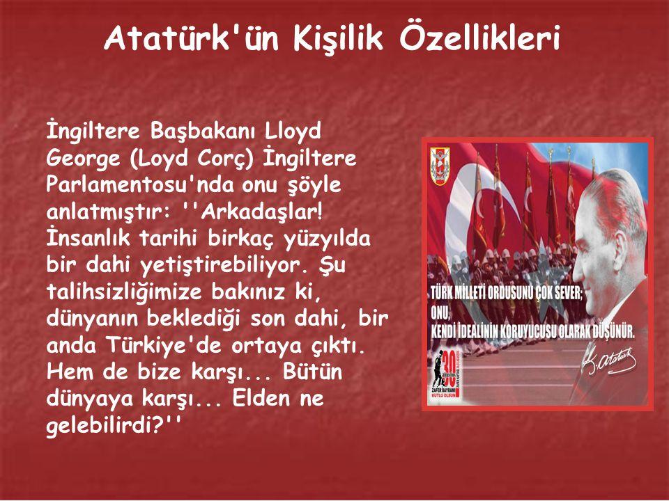 Atatürk ün Kişilik Özellikleri