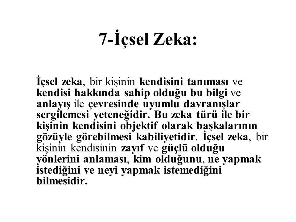 7-İçsel Zeka: