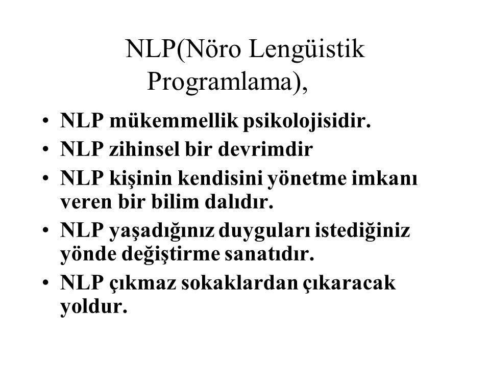 NLP(Nöro Lengüistik Programlama),