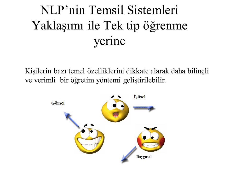 NLP'nin Temsil Sistemleri Yaklaşımı ile Tek tip öğrenme yerine