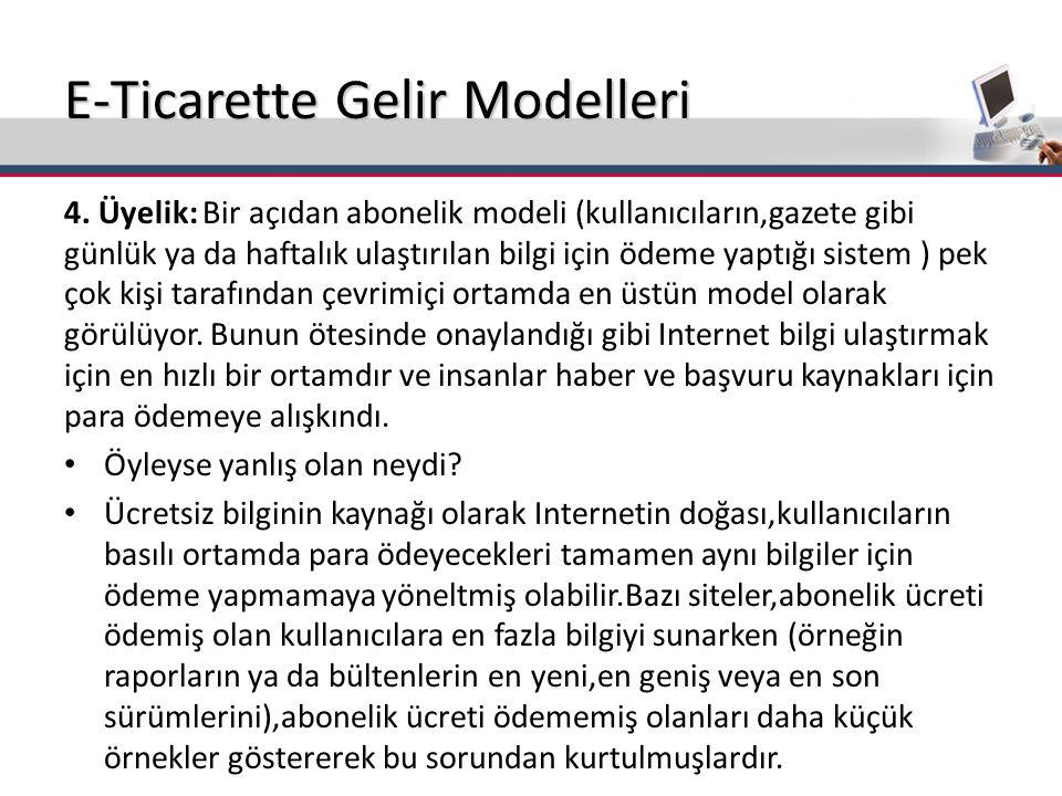 E-Ticarette Gelir Modelleri