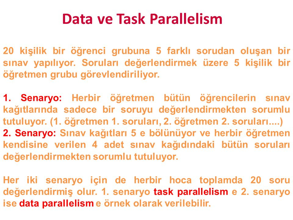 Data ve Task Parallelism