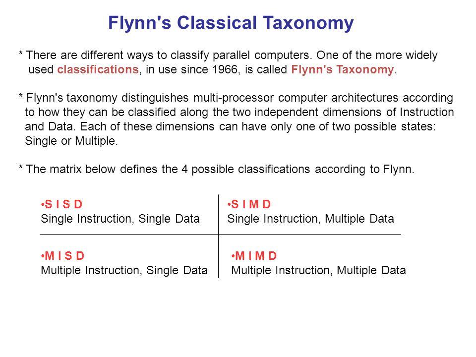 Flynn s Classical Taxonomy