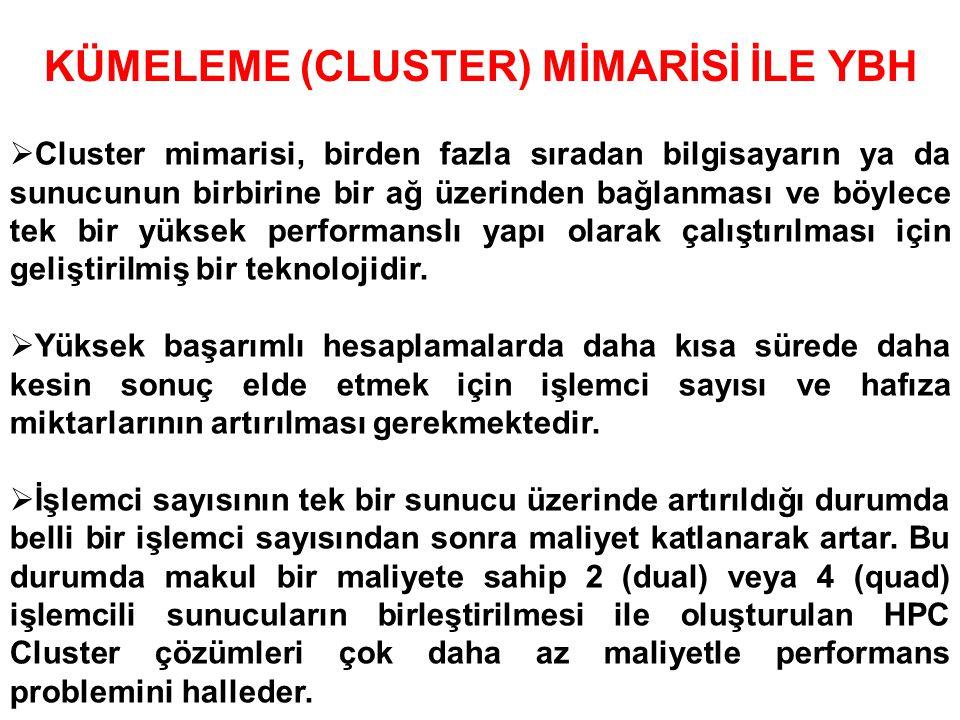 KÜMELEME (CLUSTER) MİMARİSİ İLE YBH