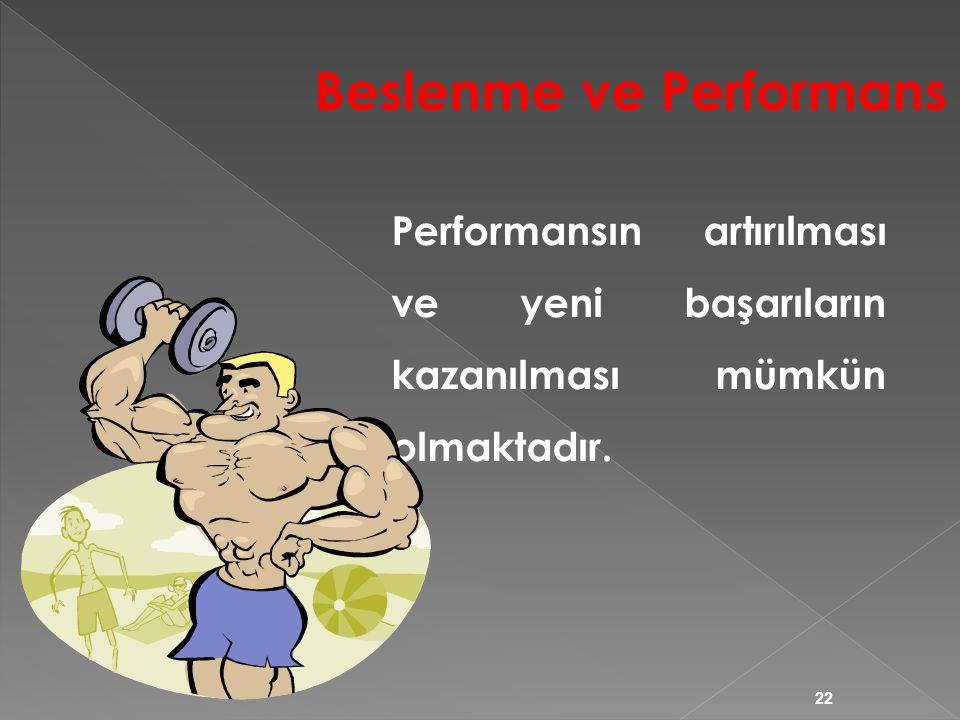 Beslenme ve Performans
