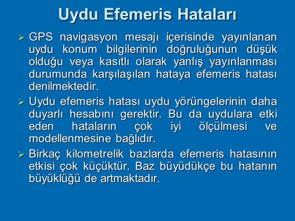 Uydu Efemeris Hataları