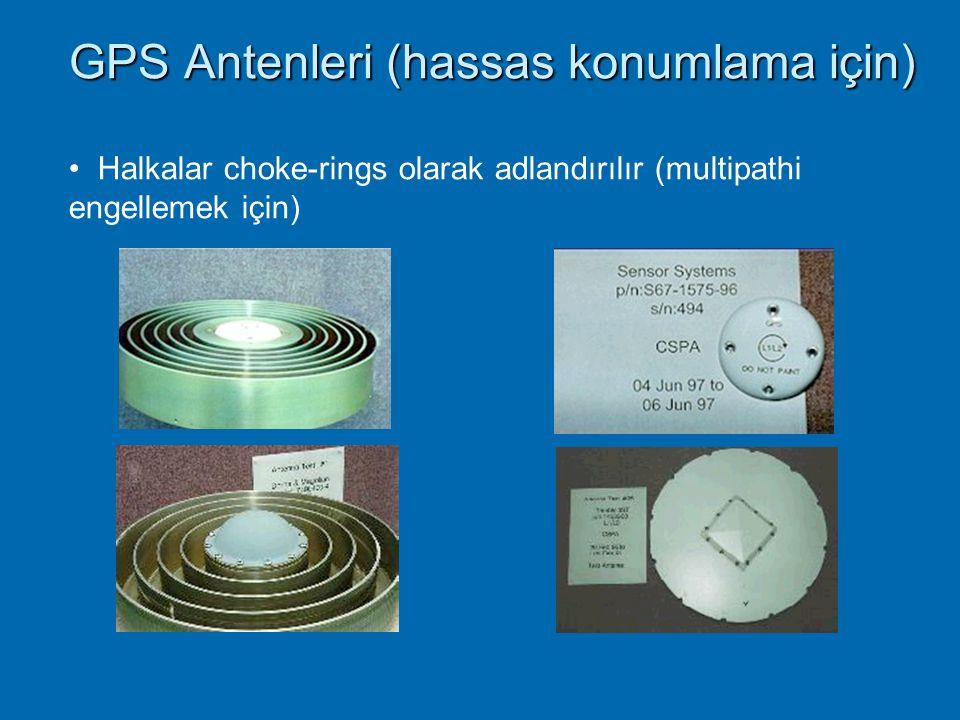 GPS Antenleri (hassas konumlama için)