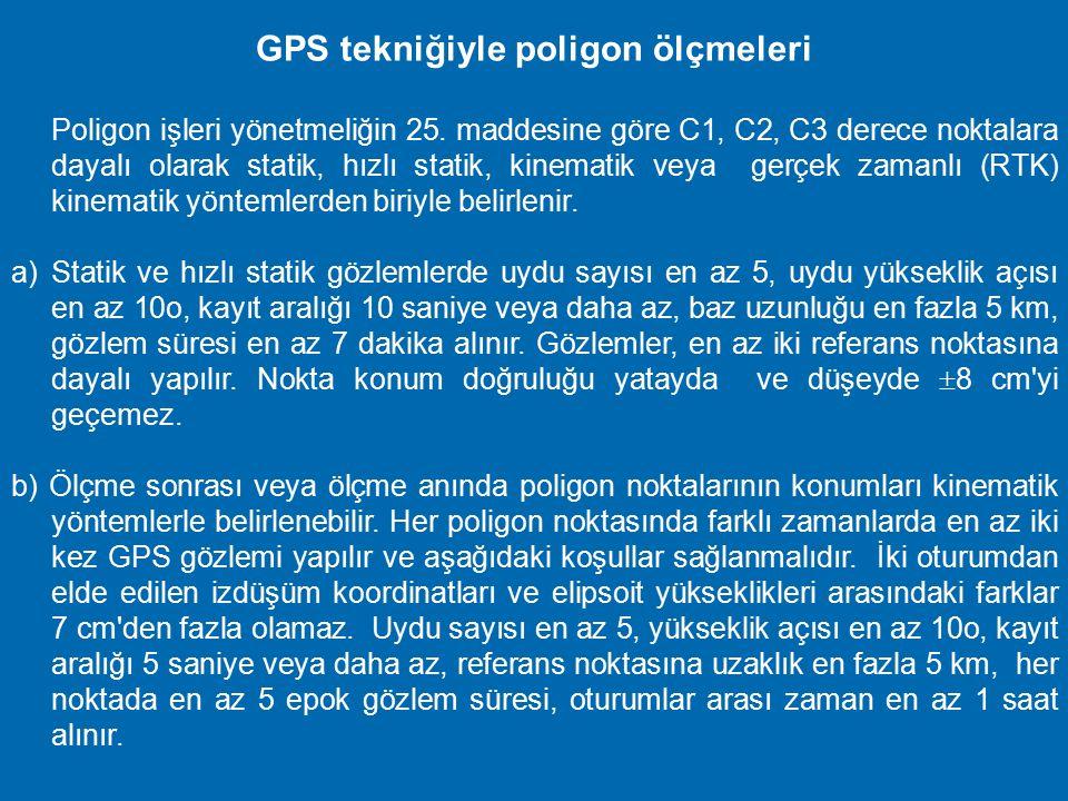 GPS tekniğiyle poligon ölçmeleri
