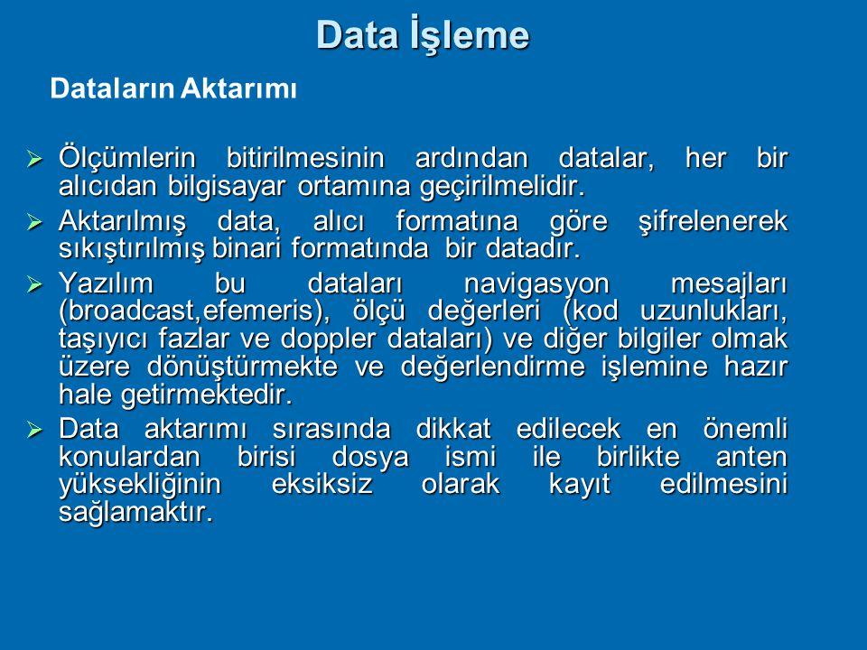 Data İşleme Dataların Aktarımı