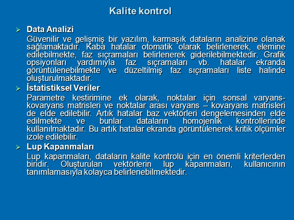Kalite kontrol Data Analizi