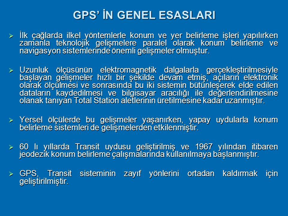 GPS' İN GENEL ESASLARI
