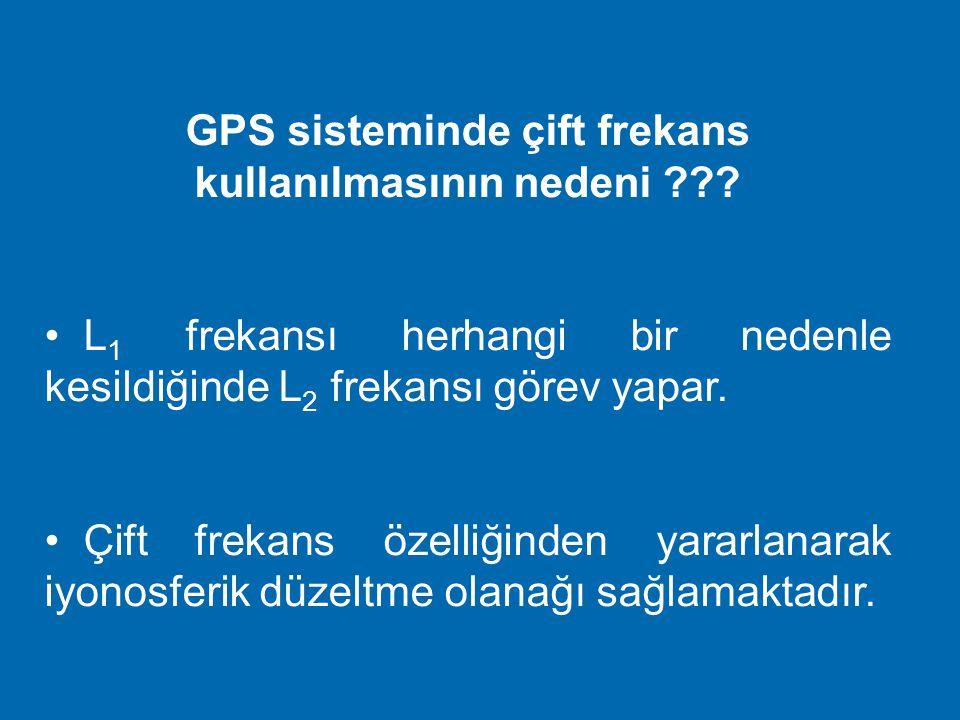 GPS sisteminde çift frekans kullanılmasının nedeni
