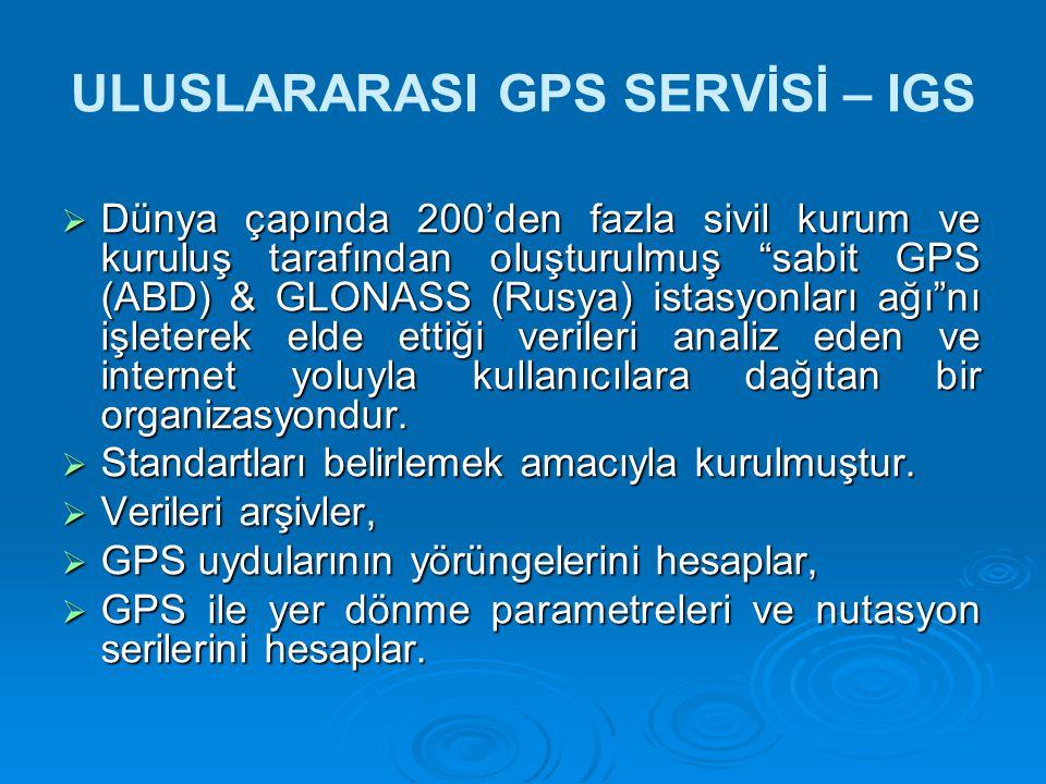 ULUSLARARASI GPS SERVİSİ – IGS