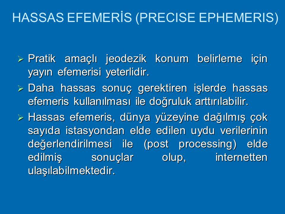 HASSAS EFEMERİS (PRECISE EPHEMERIS)