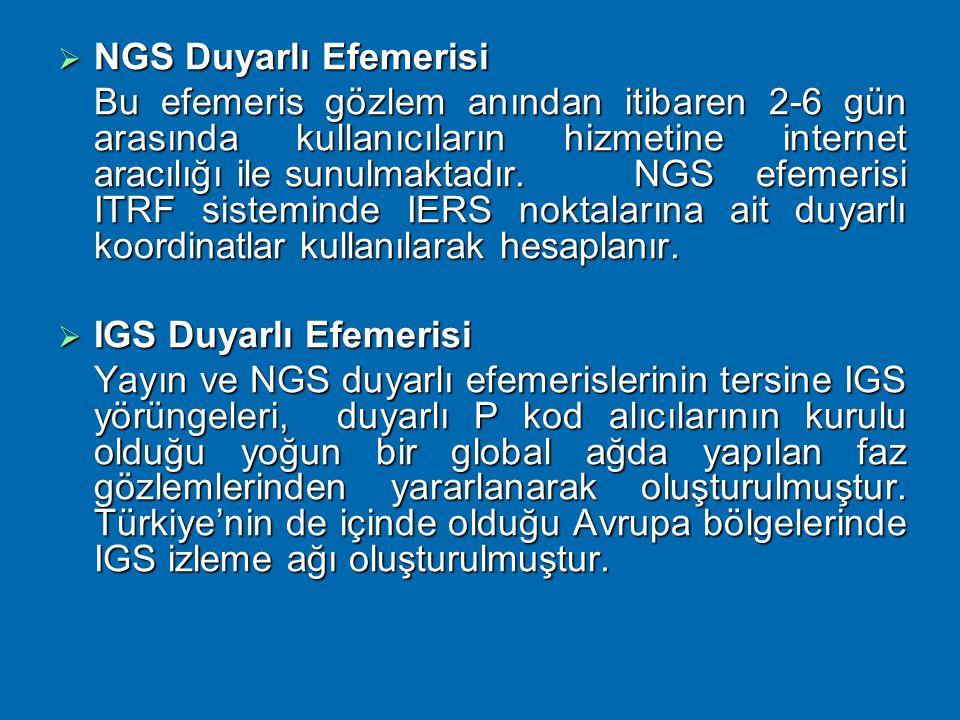 NGS Duyarlı Efemerisi