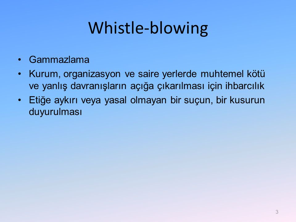 Whistle-blowing Gammazlama