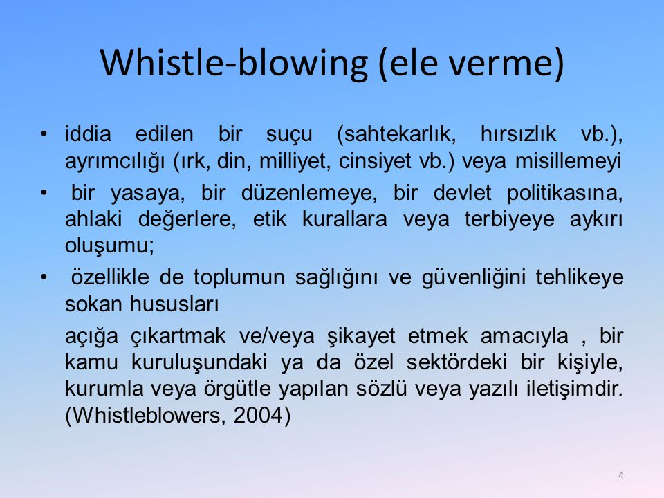 Whistle-blowing (ele verme)