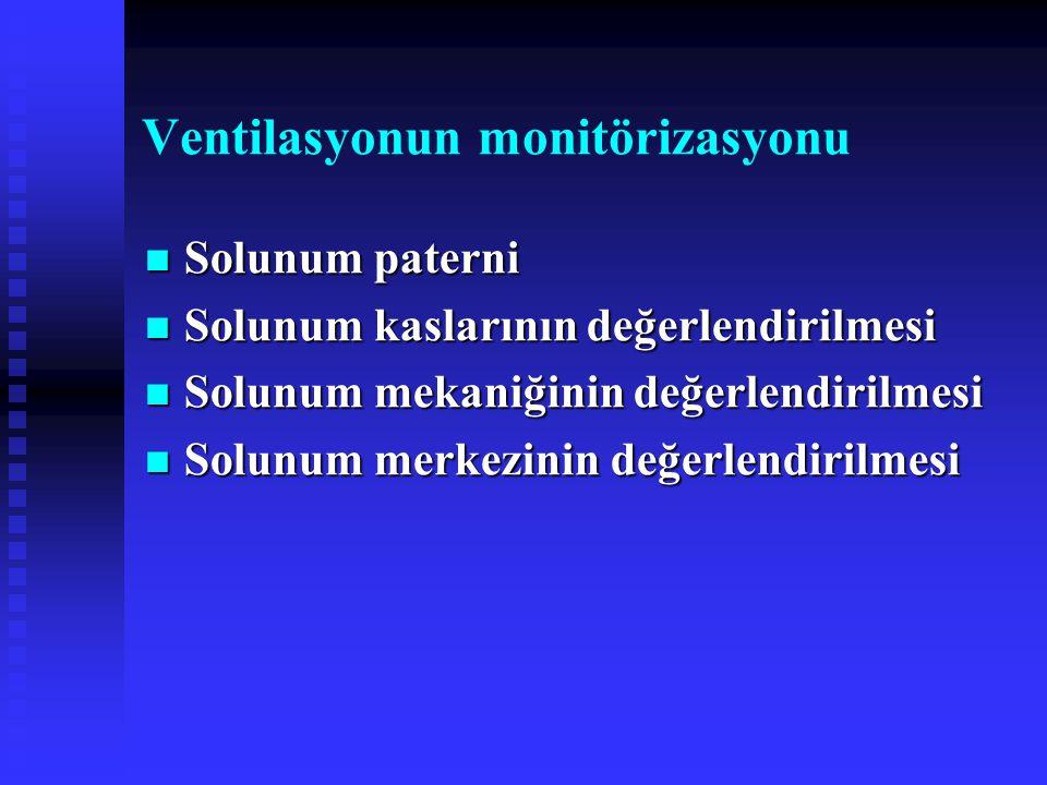 Ventilasyonun monitörizasyonu