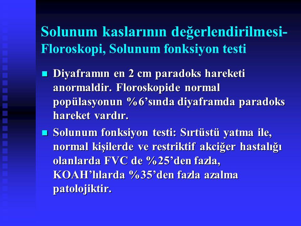 Solunum kaslarının değerlendirilmesi- Floroskopi, Solunum fonksiyon testi