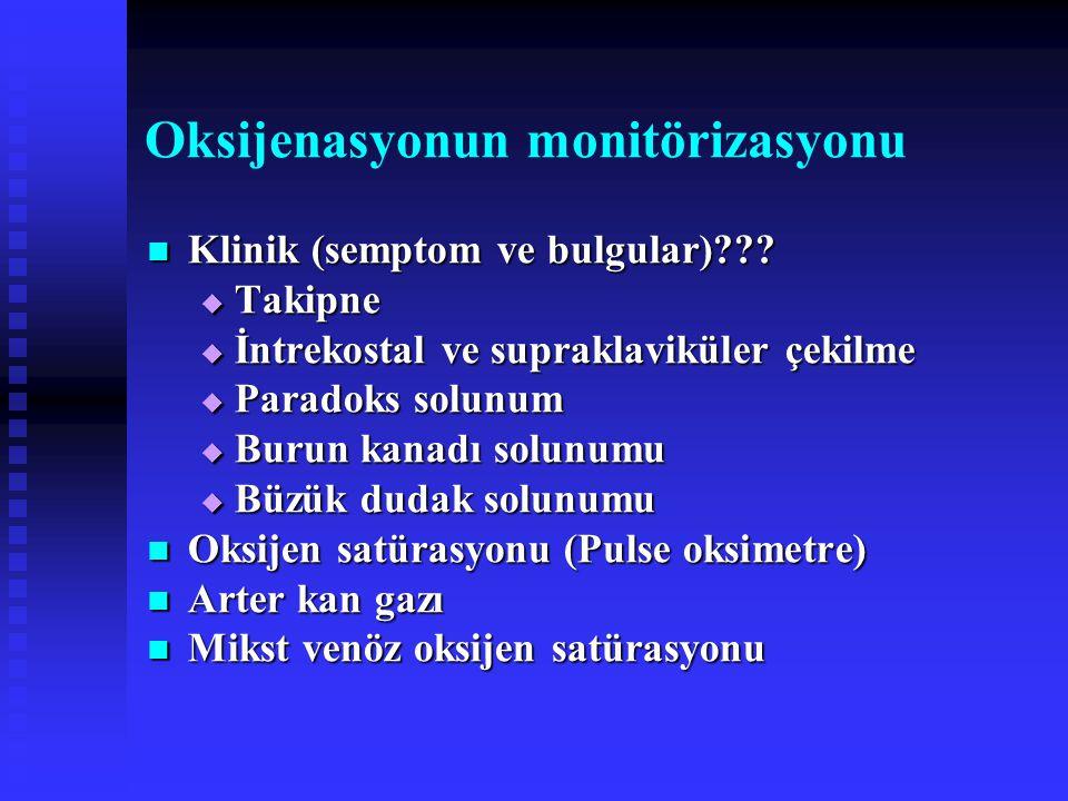Oksijenasyonun monitörizasyonu
